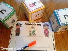 Blending sounds into words activities- R-controlled$-Fun Pirate Theme!