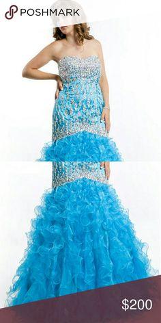 Prom dresses Blue Rachel Allan plus size dress party time formals/Rachel Allan  Dresses Prom