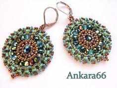 Ankara66. http://ankara66.blogspot.com/ #beadwork #earrings