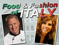 Experience the FOOD and FASHION of Italy with a professional chef and wardrobe stylist.  --> CLICK for itinerary.