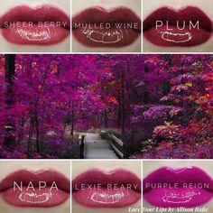 Lipsense Lip Colors 2019 - Plum & Berry Fall LipSense Love Your Lips by Allison Raf. Makesense Foundation, Lipsense Lip Colors, Long Lasting Lip Color, Color Collage, Purple Reign, Lip Service, Beautiful Lips, Love Pictures, Berries