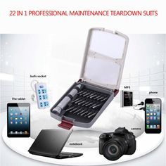 ==> [Free Shipping] Buy Best Smartphone Electronics Professional Repair Tools For Laptop 22-in-1 Screwdriver Set Portable Precision Devices Online with LOWEST Price   32827621578