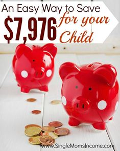 Looking for an easy way to save money for your kids? This strategy will help you painlessly save $7,976 by the time your child turns 18!