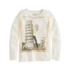 Girls' long-sleeve Olive in Pisa tee A Very Secret Pinterest Sale: 25% off any order at jcrew.com for 48 hours with code SECRET.