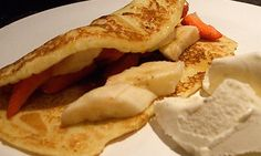 Banana and Strawberry Pancake Recipe