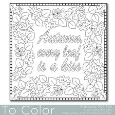 Fall Leaves Coloring Pages, Fall Coloring Sheets, Colouring Sheets For Adults, Leaf Coloring Page, Pumpkin Coloring Pages, Coloring Pages For Grown Ups, Free Coloring, Printable Adult Coloring Pages, Disney Coloring Pages