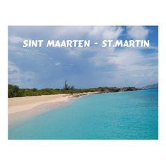 Sint Maarten - St. Martin Beach Scene Postcard (sold - Illinois) thank you!