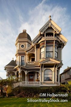 Ornate Victorian, Alameda, CA. On the southwest corner of Willow Street and San Jose Avenue.