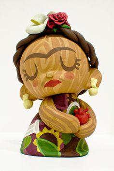 """""""Munny Frida Kahlo"""" toy design by Melissa Rodríguez Molina #Frida #FridaKahlo - Carefully selected by GORGONIA www.gorgonia.it"""