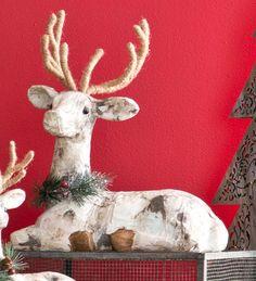 #Paper #Mache #Reindeer #Accent