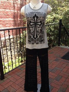 #OOTD Vocal Top $46 Ariella Lace Pants $82.99  #TazmarazChicBoutique #Lace #Cutetops #Fun #FunClothes