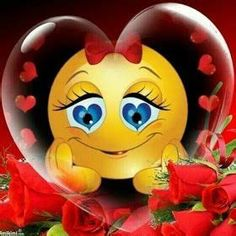 Funny Emoji Faces, Emoticon Faces, Funny Emoticons, Smileys, Kiss Me Love, Love You Gif, Love You Images, Love Smiley, Emoji Love