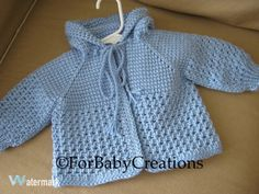 ♥ Thank you for viewing! ♥ A perfect little sweater for a little boy!! SIZE 0-3 MONTHS READY TO SHIP! This sweater is MADE TO ORDER in sizes up to 12 months and in any color you like! If you would like this sweater in a different color, please feel free to contact me!!