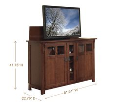 Luxury Mission Style Tv Lift Cabinet