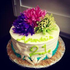 Shabby Chic theme Happy Birthday Cake
