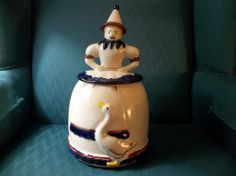 Vintage 40s? Abingdon Mother Goose Cookie Jar Original