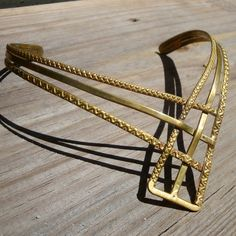 Brass Artsy Neckring Necklace  Celtic TORQUE by VintageStarrBeads, $39.95