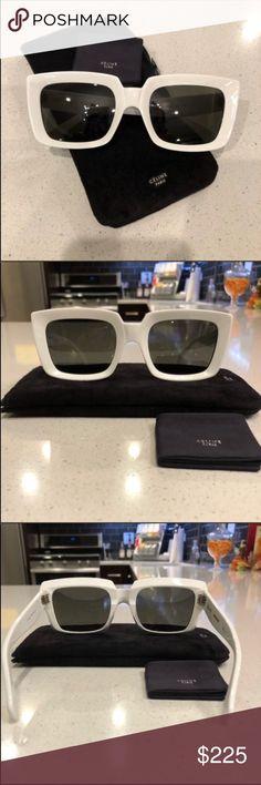 bab27db675 Celine sunglasses 😎 Celine Emma white sunglasses 100% new and authentic.  Sunglasses come with