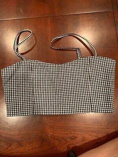 John Galt Brandy Melville NWOT Crop Top Checkered Black//White Bralette One Size