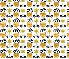 Police_fabric fabric by chippywifey on Spoonflower - custom fabric