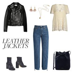 """""""leather jacket contest"""" by liiphie on Polyvore featuring Yves Saint Laurent, Maison Margiela, Vetements, Rabens Saloner, Mansur Gavriel and leatherjackets"""