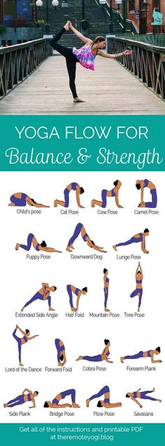 Yoga for Balance & Strength - this sequence designed to increase muscle strength and increase balance. This is a great way to keep the abs toned! Yoga Fitness, Fitness Workouts, Health Fitness, Fitness Plan, Yoga Bewegungen, Yoga Pilates, Yin Yoga, Kundalini Yoga, Vinyasa Yoga
