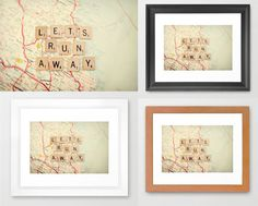 Maps + Scrabble Letters = Awesome!