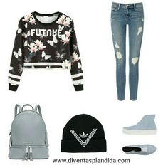 Outfit  #daragazza   #jeans  #blouse  Segui  http://www.diventasplendida.com/teenage/index.php