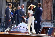 Amal Clooney Photos - George Clooney and Amal Alamuddin Go Boating - Zimbio