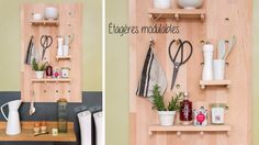 Réalisez une étagère en guise de rangement dans votre cuisine.