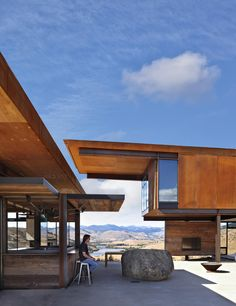 Architecture firm Olson Kundig, have designed Studhorse, a home for a family that loves adventures, located in Winthrop, Washington State.