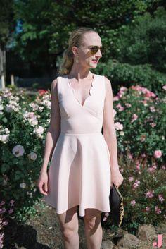 A blush pink dress w