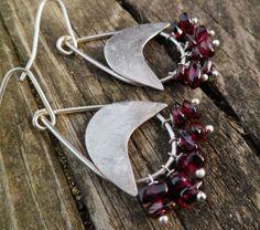 Garnet earrings. Sterling silver and garnet dangle by Unics, $46.00
