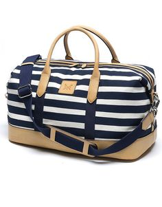 Women's Roux Holdall in Navy/White Linen from Crew Clothing