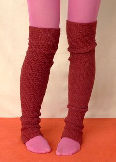I like legwarmers that go over the heel for at home wear. Reminds me of how I used to wear my leggings for dance.
