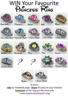 princess rings - Disney Wedding Rings