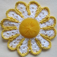 Daisy Scrubbie/Dishcloth.  Wouldn't want to use it on greasy pots and pans. It's too pretty.