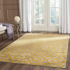 online shopping for Safavieh Porcello Collection Light Grey Yellow Area Rug x from top store. See new offer for Safavieh Porcello Collection Light Grey Yellow Area Rug x Floral Area Rugs, Yellow Area Rugs, Green Rugs, Grey Yellow, Green And Grey, Mustard Yellow, Grey Bedroom With Pop Of Color, Modern Moroccan, Moroccan Design