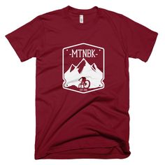 "MTNBK ""Merit Badge"" T-Shirt - Cranberry, available on www.MTNBK.com"