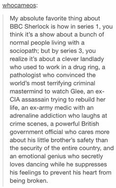 MORIARTY is the last one. << Moriarty is the evil mastermind who watches GLEE, Sherlock is the last one Sherlock Holmes Bbc, Sherlock Fandom, Sherlock John, Jim Moriarty, Sherlock Series, Johnlock, Fandoms, Fangirl, Mrs Hudson
