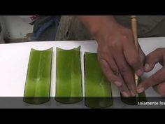corte de botella de vidrio en tiras - YouTube