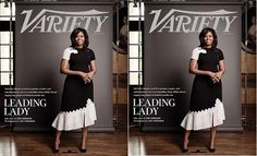 #FirstLady Of The United States #MichelleObama is a lady in black and white on the cover of #Variety 