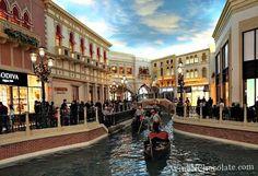 Riding the gondola in Las Vegas