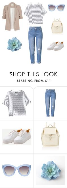 учусь by el-den on Polyvore featuring мода, MANGO, River Island, WithChic, Barneys New York and Alice + Olivia