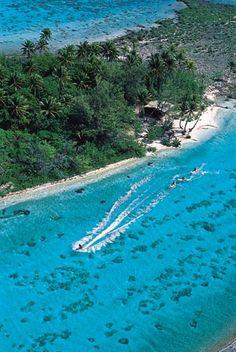 Jetskiing on Bora Bora