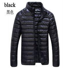 Men's Winter Duck Down Ultra Light Coat Waterproof Parka Outerwear Jacket
