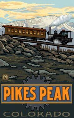 Cog Railway | Pikes Peak Summit, Pike National Forest, Colorado Springs, Colorado