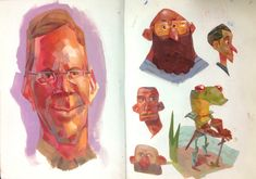 André Rocca - Paintings, sketches and studies