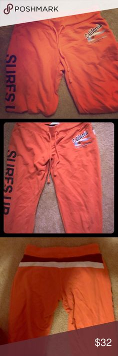 Women's CALIFORNIA REPUBLIC Capri Sweat pants Super comfy and perfect condition no flaws. Size medium! Fits size small and medium women, as they have adjustable drawstring California Republic Pants