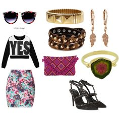 """Flower Power Yes?"" by wholesalecelebshades on Polyvore wholesalecelebshades.com"